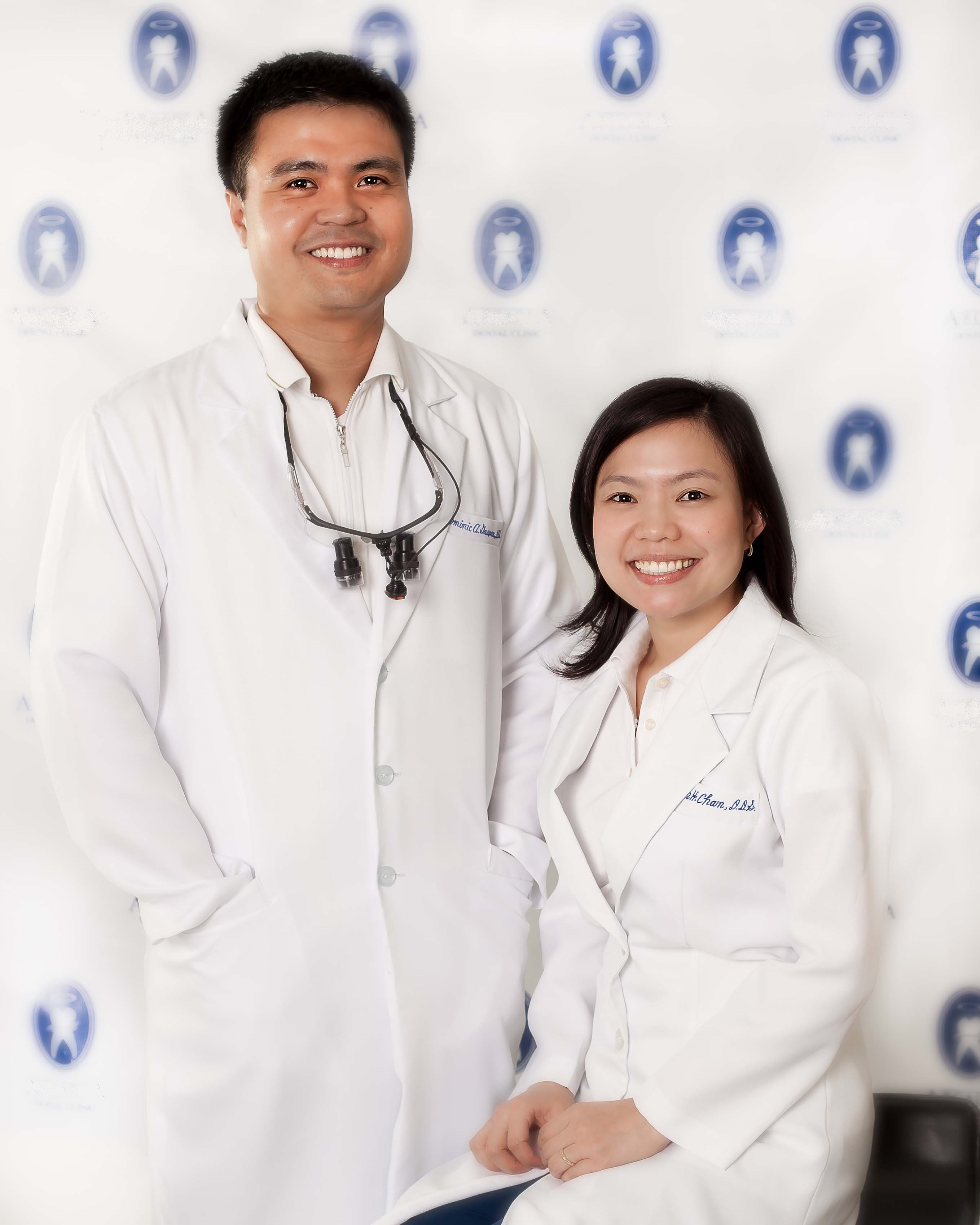Dominic Gaspar DDS and Evelyn Chan DDS
